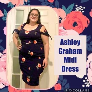 Ashley Graham Dresses - 🌺 Ashley Graham Cold Shoulder Flower Print Dress